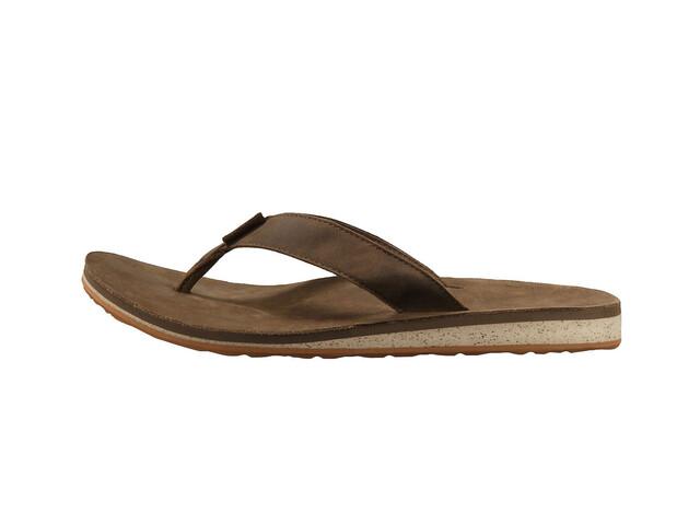 Teva Classic Flip Premium Sandals Men Dark Earth